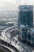 Вид на третье транспортное кольцо рядом ММДЦ Москва-Сити