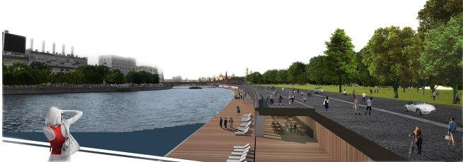 Проект развития територий Москвы-реки бюро BURGOS & GARRIDO