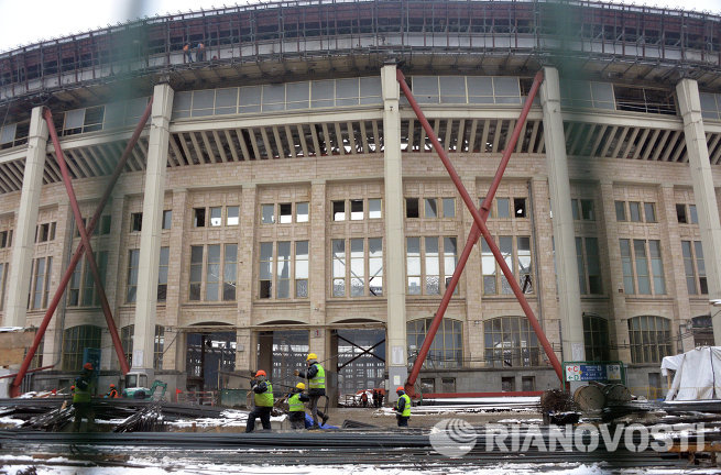 Инспекционный визит FIFA и Оргкомитета Россия-2018 в Лужники