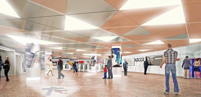 Дизайн метро Третьяковская