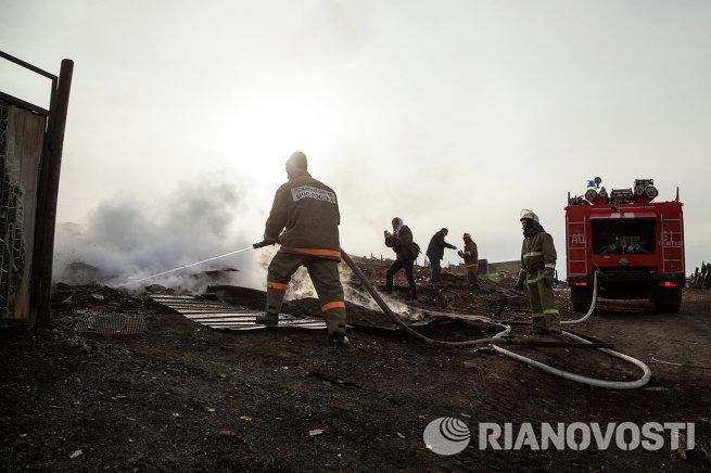 Ликвидация последствий пожара в Республике Хакасия
