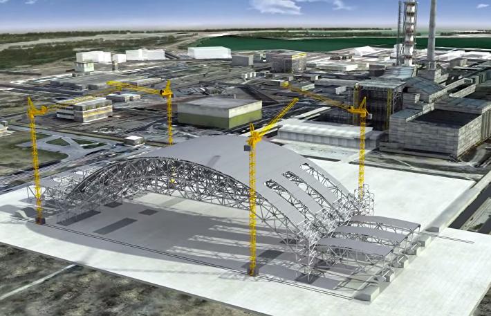 Проект строительства нового саркофага над Чернобыльской АЭС