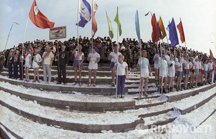 Спортивный праздник моржей в парке Горького (1982 год)