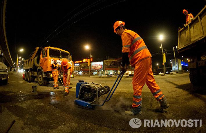 Ремонт дорог в Москве