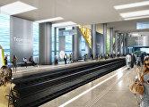 Проект станции Терехово архитектурного бюро Gerber Architekten International (Германия)