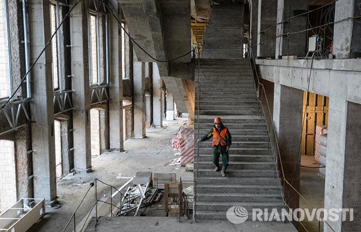 Строительство БСА Лужники