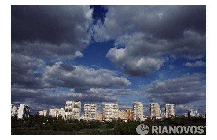 Вид на микрорайон Раменки в Западном административном округе Москвы