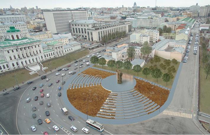 Проект благоустройства Боровицкой площади BuroMoscow