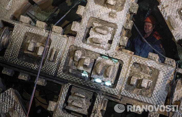 Строительство станции московского метрополитена