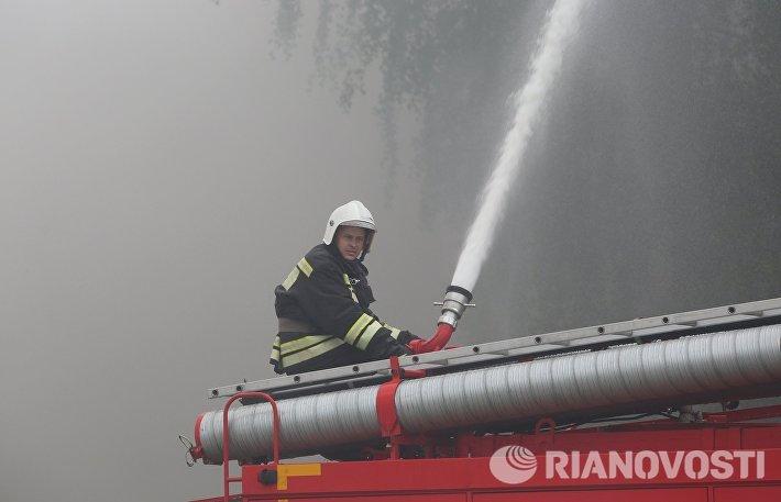 Пожарно-тактические учения в Белгородской области