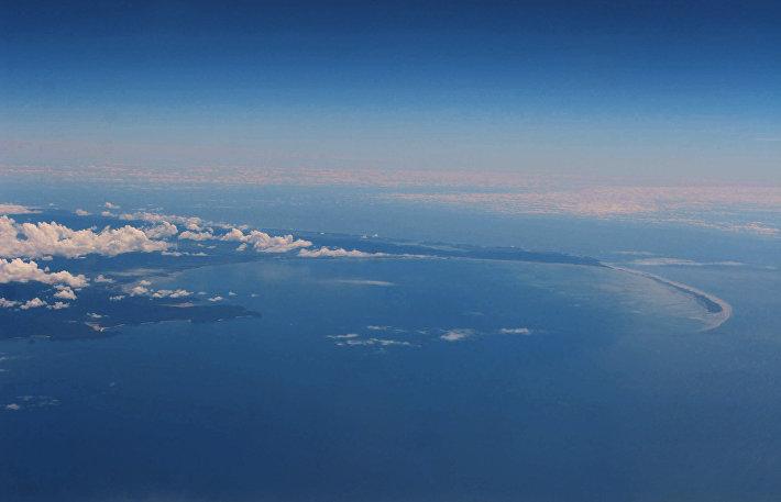 Пролив Кука в Тихом океане