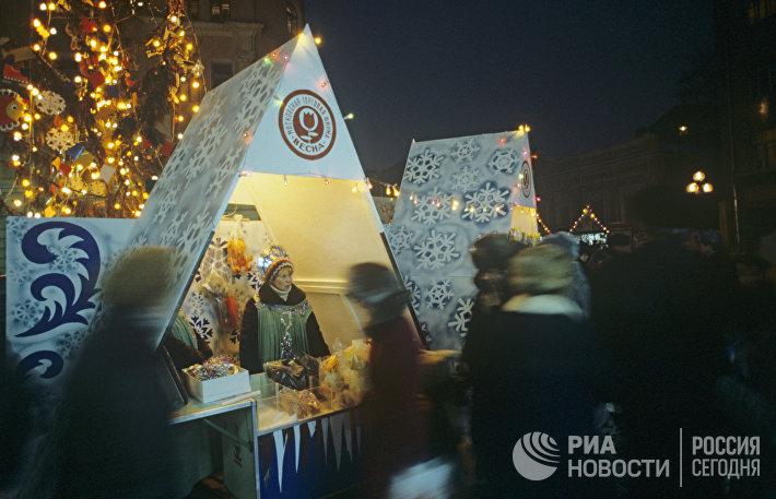 Новогодний базар в Москве