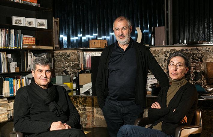 Рафаэль Аранда, Рамон Вилальта и Кармэ Пихем (слева направо)