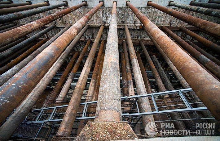 Строительные работы в московском метро