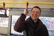 Открытие новой выделенной полосы в центре Москвы
