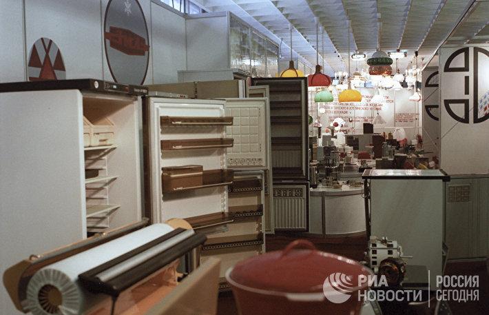 ВДНХ СССР. Выставка Машиностроение-88. Раздел бытовой техники.