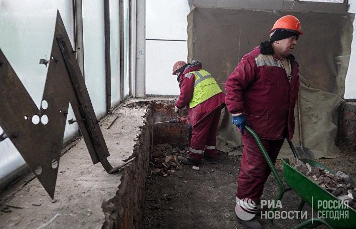 Ремонтные работы на станциях Филевской линии московского метрополитена