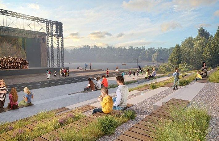 Проект реконструкции общественных пространств в Уфе