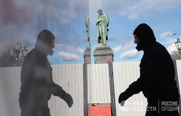 Реставрация памятника А.С. Пушкину