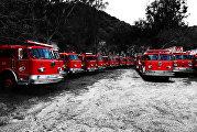 Свалка пожарных машин