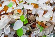 Стеклянный пляж в Калифорнии, США