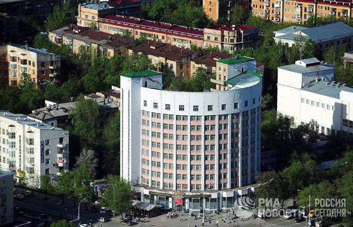 Вид на гостиницу Исеть